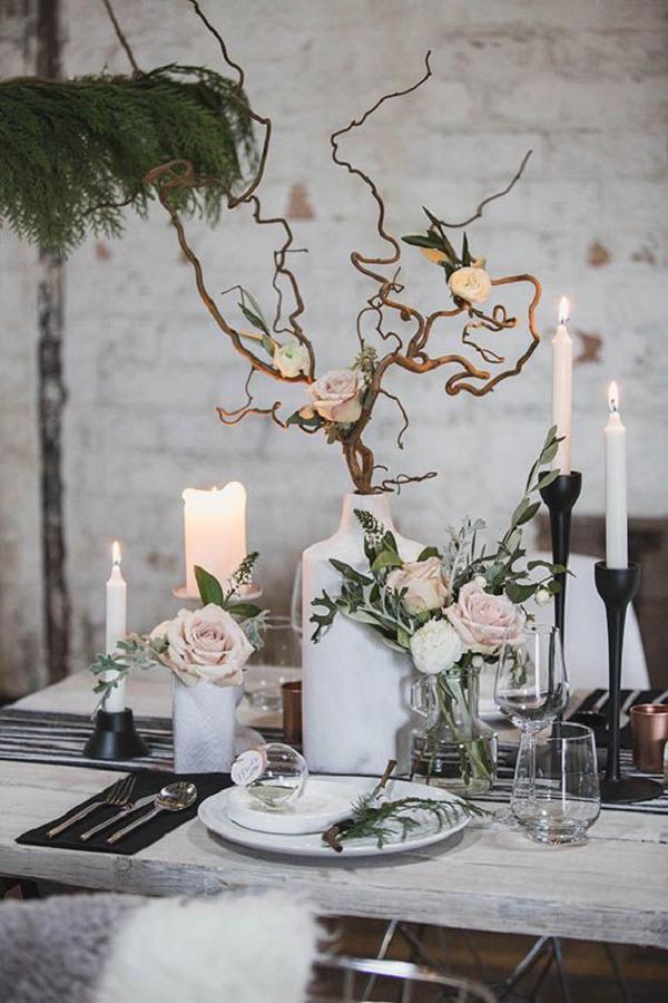 Dekoracje stołów na wesele zimowe, Organizacja ślubu i wesela zimą, Zimowe Panny Młode, Zimowe inspiracje na ślub, Zimowy Ślub,