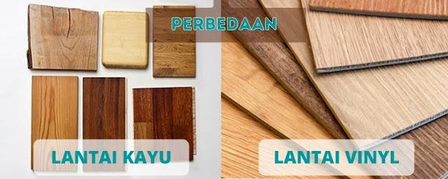 perbedaan lantai kayu dan lantai vinyl
