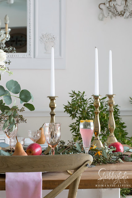 Elegant table centerpiece french country decorating shabbyfufu - French country table centerpieces ...