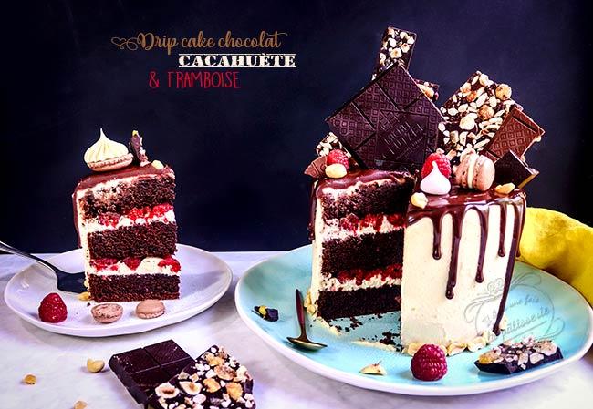 gateau à étage chocolat framboise