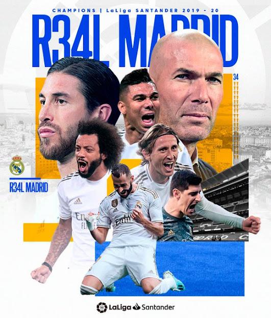 مبروك يالميرنغي : الملكي ريال مدريد بطلا للدوري الإسباني للمرة الـ34 في تاريخه