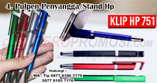 Pulpen Penyangga/Stand Hp merupakan salah satu aksesoris handphone yang cocok dijadikan souvenir