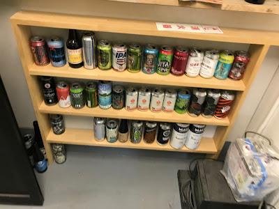 デビルクラフト2階のビール棚