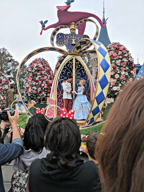 Celebrating my Birthday at the Magic Kingdom - Magic Kingdom Parade - Cinderella and Prince Charming