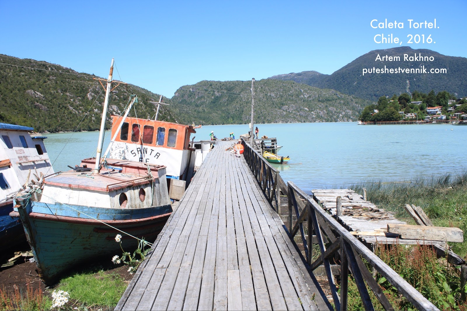 Пристань в деревне Калета Тортел