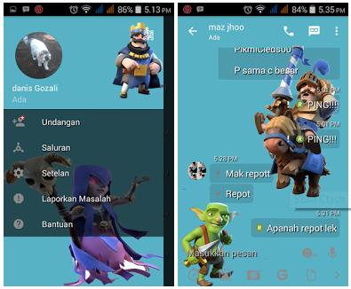 Kumpulan BBM Mod Tranparan Full Tema for Android Terbaru 2017