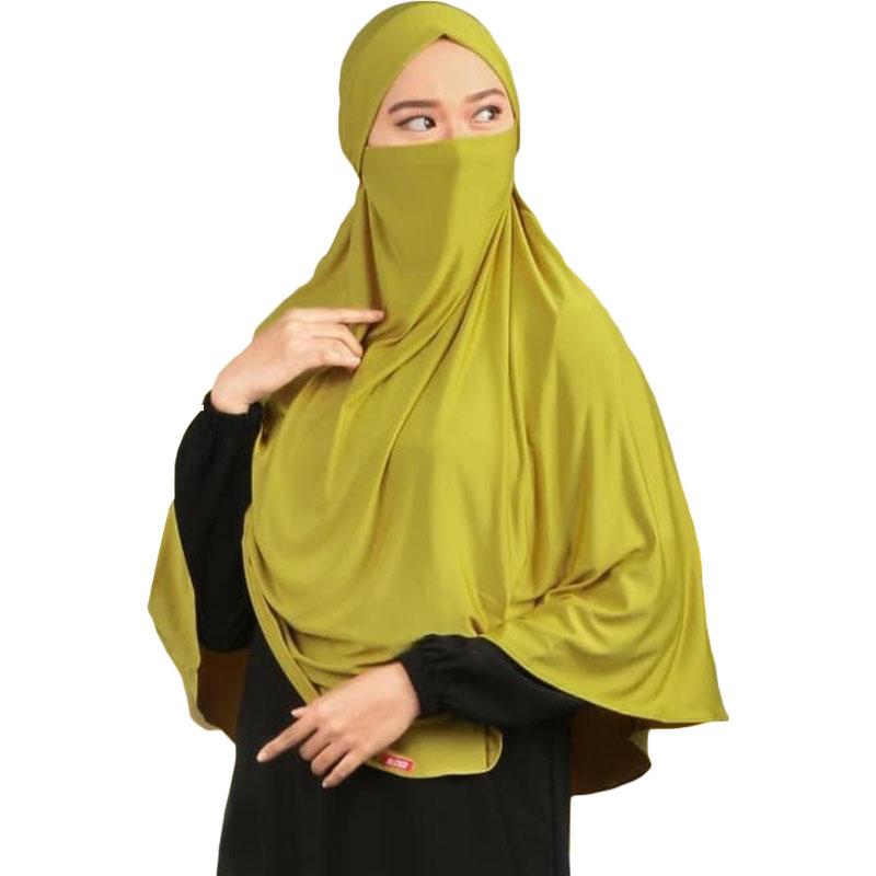Kerudung Syari / Kerudung Corona Niqab Cadar - Lime