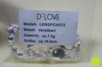 Info: Delove Bettelarmband Geschenk Damen Armbänder Schmuck Anhänger Silber 18.5cm LKNSPCH372