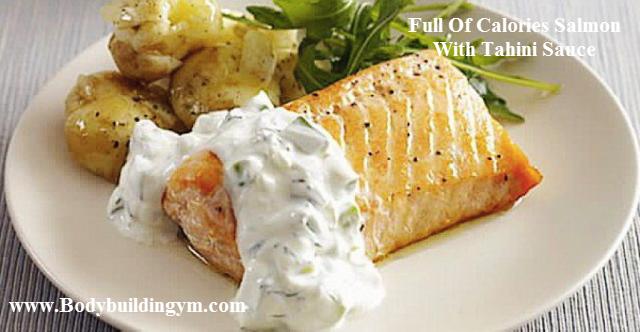 Salmon With Tahini Sauce
