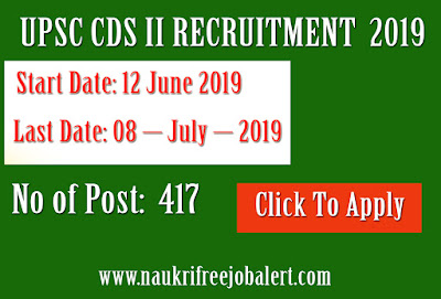 UPSC CDS II RECRUITMENT  2019, upsc recruitment, government job, free job alert, upsc, naukri, sarkari naukri, upcoming notification, govt job