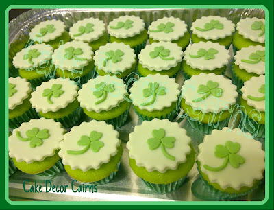 Saint Patricks Day Fondant Gumpaste Cupcake Toppers Tutorial