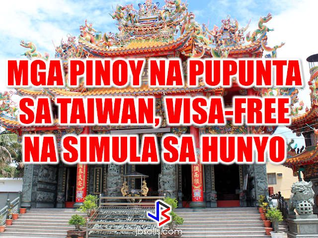 "The Ministry of Foreign Affairs (MOFA) announced that Filipinos will be granted visa-free access to Taiwan starting on June 1, 2017.   The visa exemption for Filipinos has a duration of up to 30 days, which will be implemented on a trial basis for a period of one year, from June 1, 2017 to July 31, 2018, the ministry said.  The government also extended the 30-day visa exemption for Thai and Brunei nationals to one year.  Taiwan is gradually removing barriers and obstacles regarding  visa procedures including extending visa-free privileges for these countries.The visa application time is also hastened, the ministry said.  Since Taiwan offered visa-free entry to the neighboring countries in Southeast Asia, they have seen significant growth in the number of visitors coming to their country.  In January, according to the government data, the number of South and Southeast Asian visitors in Taiwan reached 68,000, marking an increase of 42.8 % -- the biggest growth in the period of four years.  Taiwan can be a good tourist destination for Filipinos. It will only take approximately two hours travel to go there. Source: Taiwan News Recommended:  The PNP advised those who are going for a holiday getaway to make sure that somebody is in the house, shop or establishment before  leaving, or in cases where nobody will be there to guard the premises, make sure that the doors and windows are securely locked. They also advised people to make sure to unplug all electrical devices and appliances  to prevent any trouble or fire that can be caused by overheated electrical appliances.  2017 Top 10 IDEAS for OFWs to Invest    The OFWs are the reason why President Rodrigo Duterte is pushing through with the campaign on illegal drugs, acknowledging their hardships and sacrifices. He said that as he visit the countries where there are OFWs, he has heard sad stories about them: sexually abused Filipinas,domestic helpers being forced to work on a number of employers. ""I have been to many places. I have been to the Middle East. You know, the husband is working in one place, the wife in another country. The so many sad stories I hear about our women being raped, abused sexually,"" The President said. About Filipino domestic helpers, he said:  ""If you are working on a family and the employer's sibling doesn't have a helper, you will also work for them. And if in a compound,the son-in-law of the employer is also living in there, you will also work for him.So, they would finish their work on sunrise."" He even refer to the OFWs being similar to the African slaves because of the situation that they have been into for the sake of their families back home. Citing instances that some of them, out of deep despair, resorted to ending their own lives.  The President also said that he finds it heartbreaking to know that after all the sacrifices of the OFWs working abroad for the future of their families they would come home just to learn that their children has been into illegal drugs. ""I made no bones about my hatred. I said, 'If you do drugs in my city, if you destroy our daughters and sons, I'll just have to kill you.' I repeated the same warning when i became president,"" he said.   Critics of the so-called violent war on drugs under President Duterte's administration includes local and international human rights groups, linking the campaign on thousands of drug-related killings.  Police figures show that legitimate police operations have led to over 2,600 deaths of individuals involved in drugs since the war on drugs began. However, the war on drugs has been evident that the extent of drug menace should be taken seriously. The drug personalities includes high ranking officials and they thrive in the expense of our own children,if not being into drugs, being victimized by drug related crimes. The campaign on illegal drugs has somehow made a statement among the drug pushers and addicts. If the common citizen fear walking on the streets at night worrying about the drug addicts lurking in the dark, now they can walk peacefully while the drug addicts hide in fear that the police authorities might get them. Source:GMA {INSERT ALL PARAGRAPHS HERE {EMBED 3 FB PAGES POST FROM JBSOLIS/THOUGHTSKOTO/PEBA HERE OR INSERT 3 LINKS}   ©2017 THOUGHTSKOTO www.jbsolis.com SEARCH JBSOLIS The OFWs are the reason why President Rodrigo Duterte is pushing through with the campaign on illegal drugs, acknowledging their hardships and sacrifices. ©2017 THOUGHTSKOTO www.jbsolis.com SEARCH JBSOLIS"