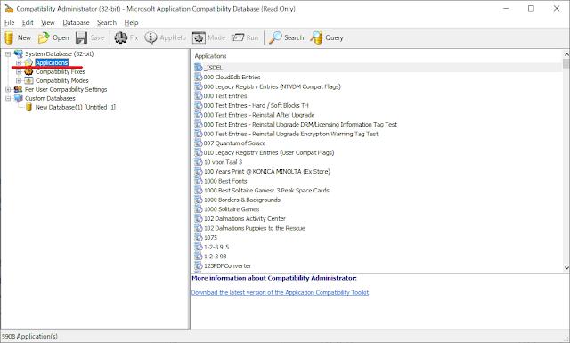 Compatibility Administrator(32-bit)