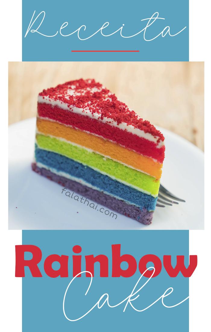 bolo arco-íris, rainbow cake, bolo colorido