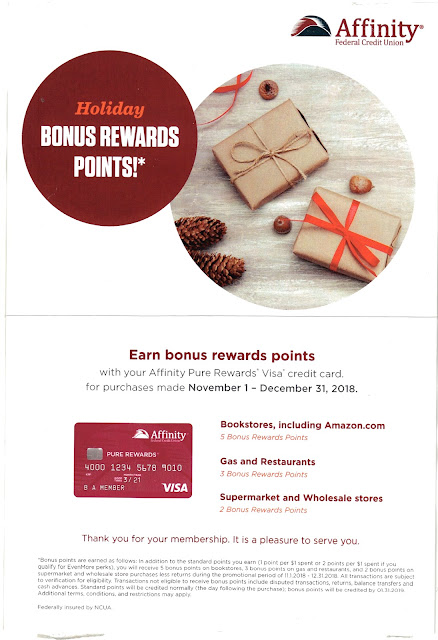 Affinity Federal Credit Union Pure Rewards Points Fail for Creative