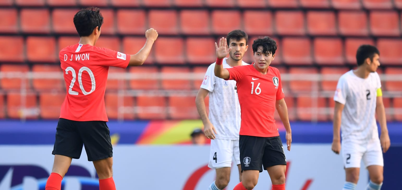 Jeong Seung-won against Uzbekistan 01.15.20