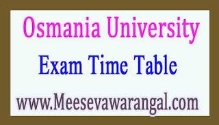 Osmania University MMS 2nd Sem Regular / Backlog Exam TimeTable 2017