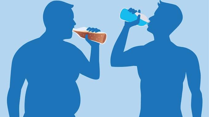 Ukuran Pinggang Orang yang Sering Minum Soda Dibanding yang Tidak atau Jarang