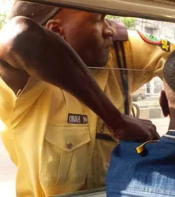 lastma officer fighting camera