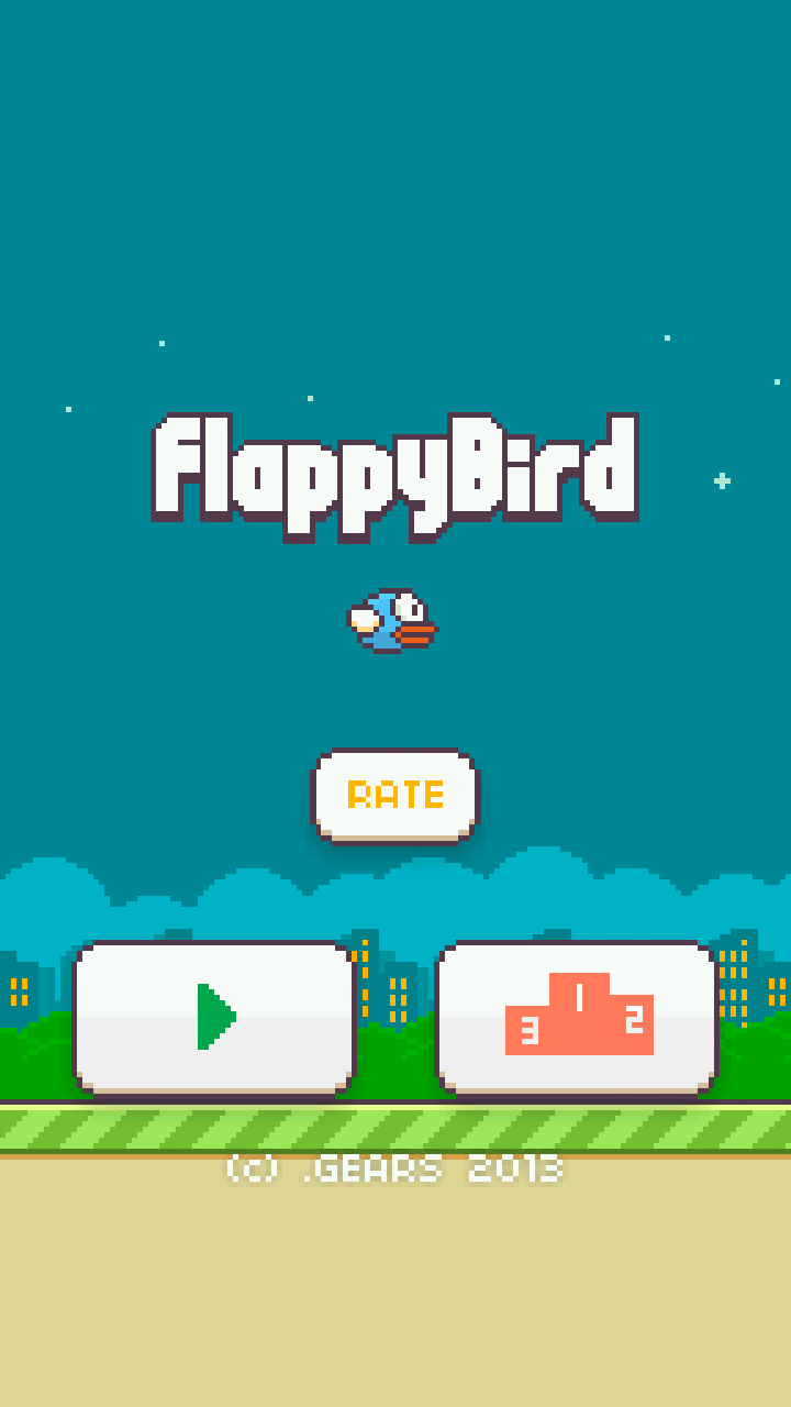 Fappy Bird Start Screen