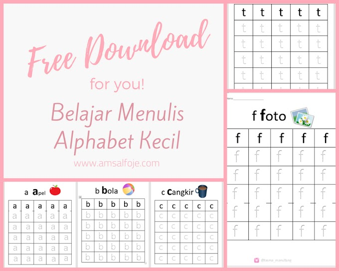 [Free Download] Lembar Kerja Alphabet 1 - WorkSheet Alphabet