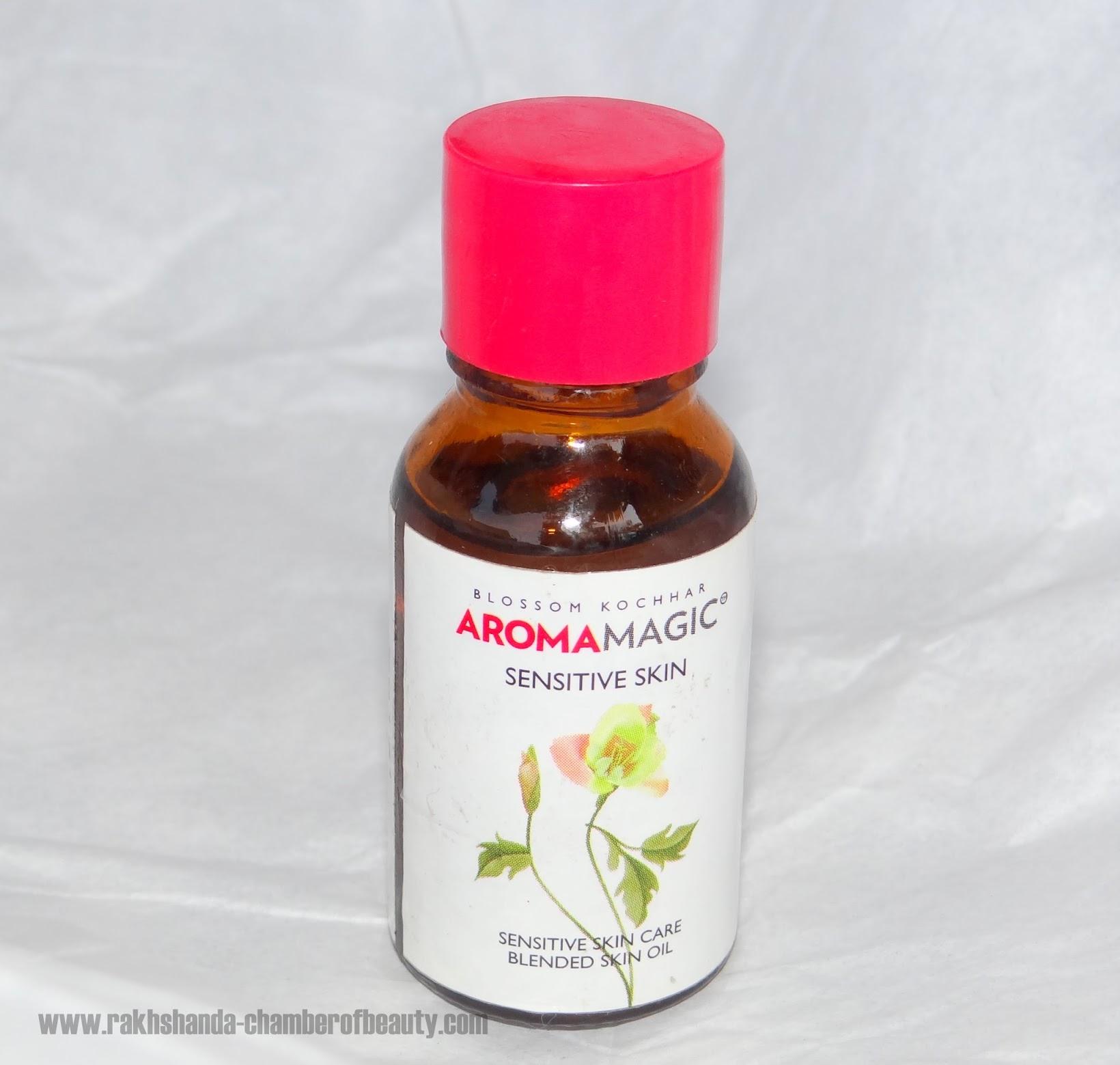 Aroma Magic Blended Skin oil for sensitive skin review, skincare products for sensitive skin