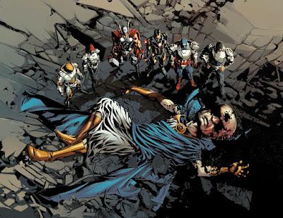 Reseña de Marvel Now! Deluxe. Pecado Original ¿Quién ha matado al Vigilante? de Jason Aaron y el artista Mike Deodato.