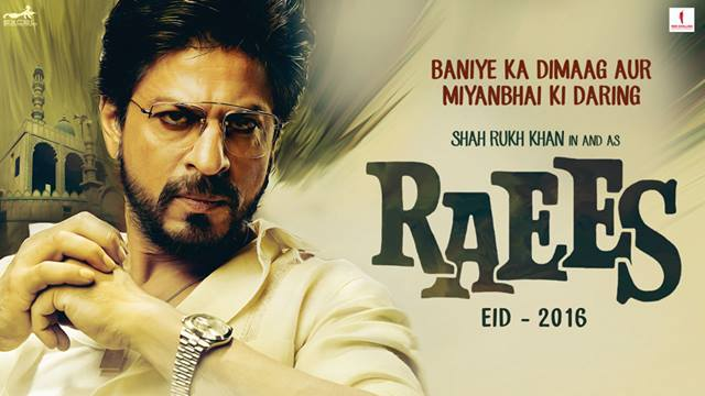 Raees movie poster with Shah rukh khan. with the style of raees