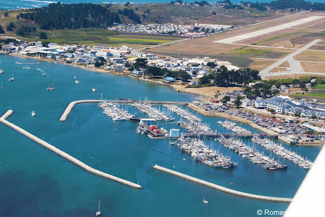 Aerial View of Princeton-by-the-Sea Half Moon Bay