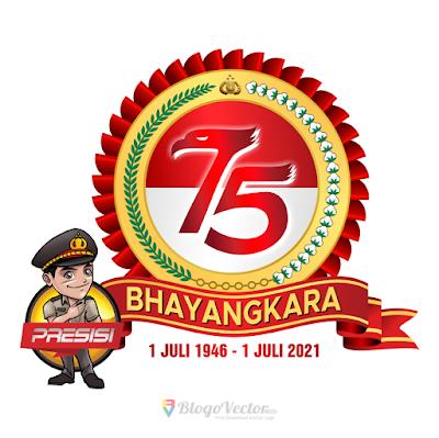 HUT Bhayangkara-75 Logo Vector
