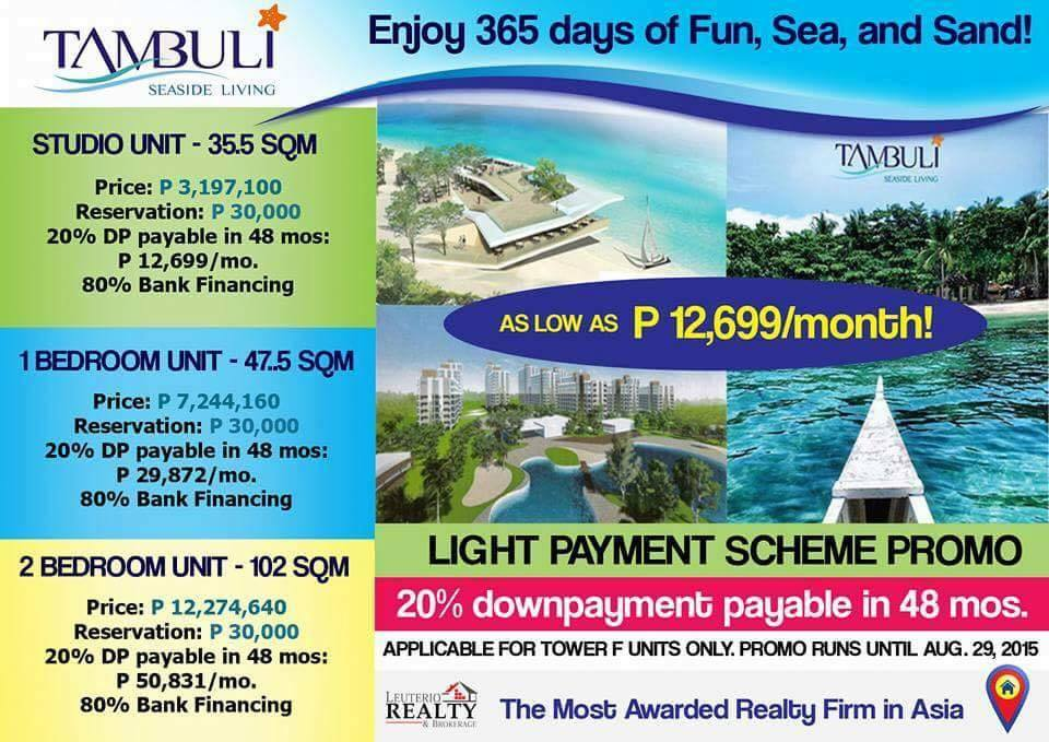 Tambuli Seaside Living Resort Condo In Cebu Fortune Habits