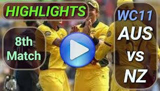 AUS vs NZ 8th Match