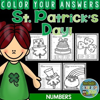 Color By Numbers St. Patrick's Day Know Your Numbers