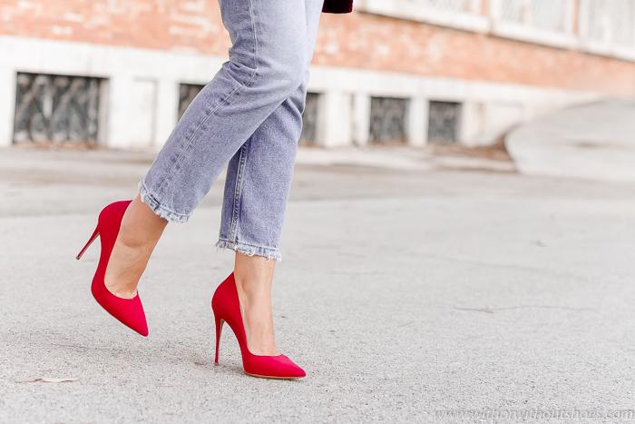 Adicta a los zapatos Pumps salones zapatos rojos tacon