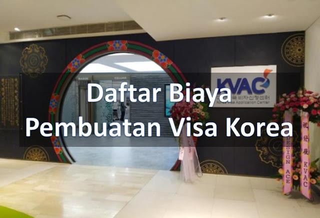 harga biaya visa korea