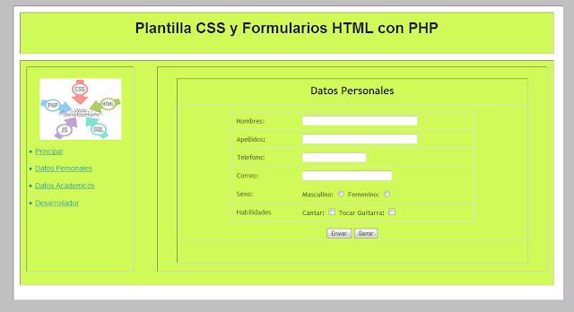 Plantilla-CSS-Formulario-Datos-Academicos