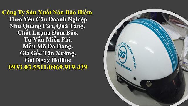 8. Sản xuất mũ bảo hiểm nửa đàu, nón bảo hiểm quà tặng, mũ bảo hiểm giá rẻ, nón bảo hiểm quảng cáo tại Tây Ninh