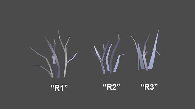 Beberapa variasi rumput yang akan digunakan