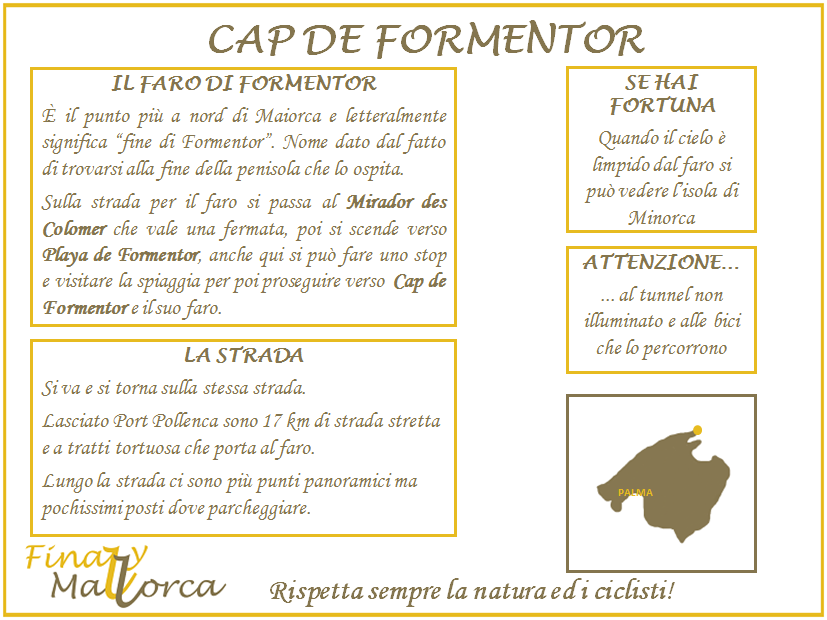 Scheda informativa Cap de Formentor