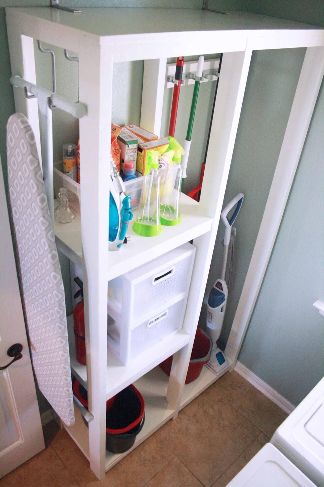 DIY Laundry Room Storage Tower | Summer Owens