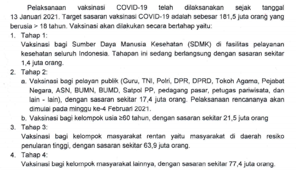 siap guru dan tenaga public lain juga akan diberi Vaksinasi Covid SE MENTERI KESEHATAN: SASARAN VAKSINASI COVID-19 TAHAP 2 UNTUK GURU, PELAYAN PUBLIK DAN LANSIA