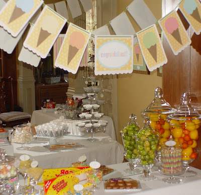 baby-shower-ice-cream-cone-theme-here's-the-scoop-dessert-table-deborah-stauch