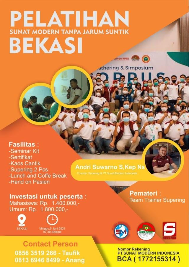 Pelatihan Sunat Modern Tanpa Jarum Suntik Lokasi Bekasi