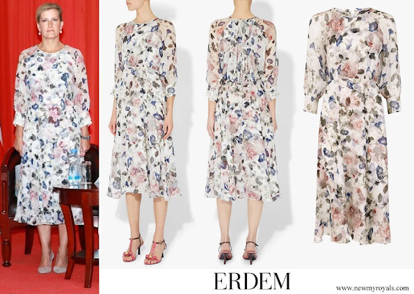 The Countess of Wessex wore Erdem Yusra Dress Apsley White