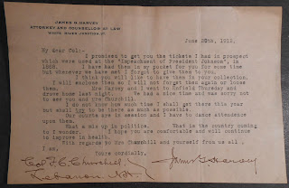 Letter from Harvey to Churchill, June 29, 1912