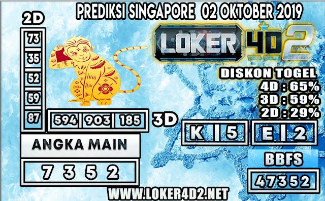 PREDIKSI TOGEL SINGAPORE LOKER4D2 02 OKTOBER 2019
