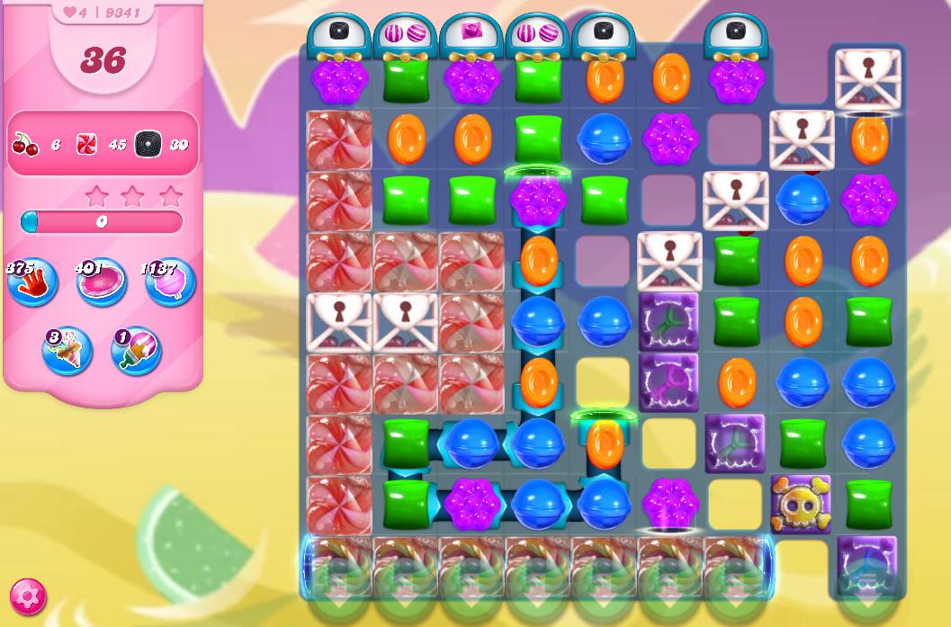 Candy Crush Saga level 9341