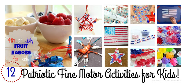 4th of July  Patriotic Fine Motor Activities