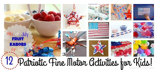 4th of July fine motor preschool activities