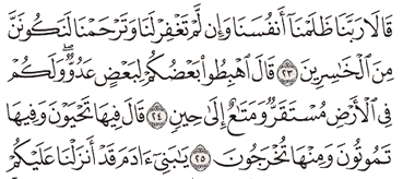 Tafsir Surat Al-A'raf Ayat 21, 22, 23, 24, 25